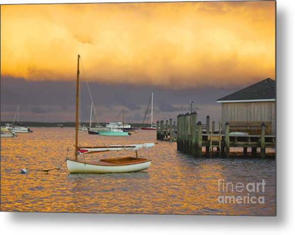 Sunset At Kennedy Compound Metal Print