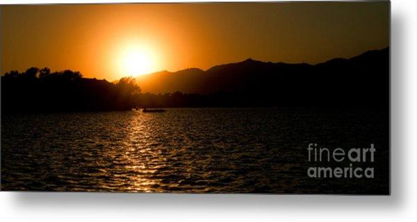 Sunset At Kunming Lake Metal Print