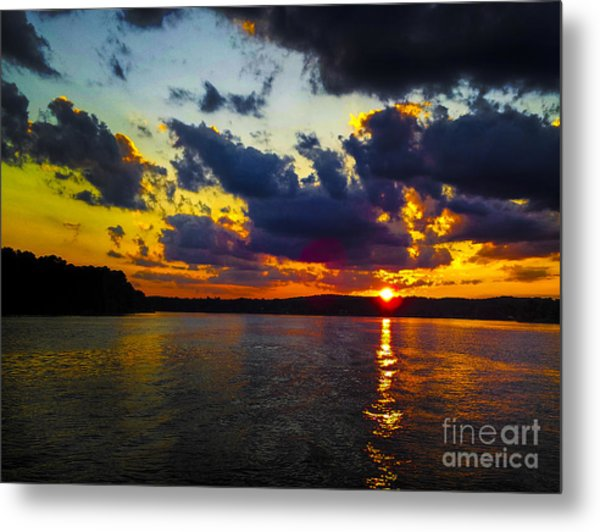 Sunset At Lake Logan Martin Metal Print