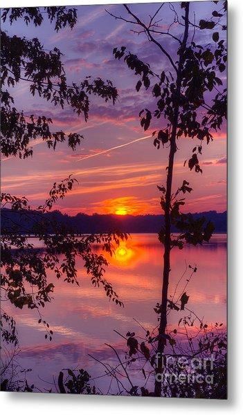 Sunset At Loch Raven Metal Print