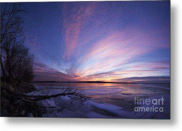 Sunset At Lovewell Lake Kansas Metal Print