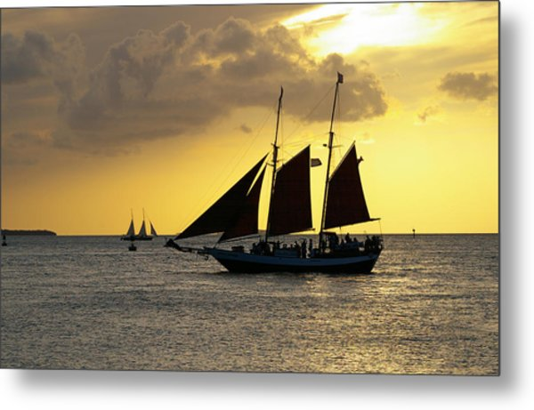 Sunset At Mallory Square II Metal Print