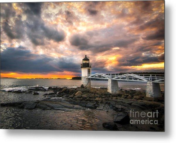 Sunset At Marshall Point Metal Print