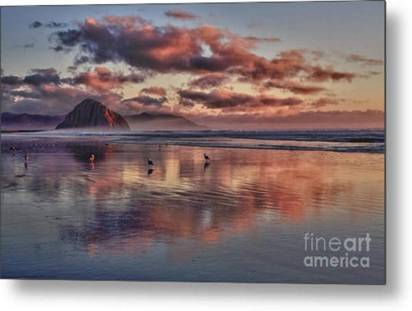 Sunset At Morro Strand Metal Print