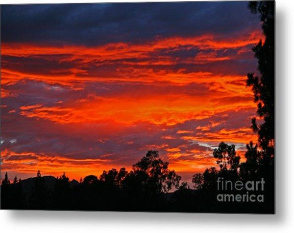 Sunset At Night Metal Print by Kenny Bosak