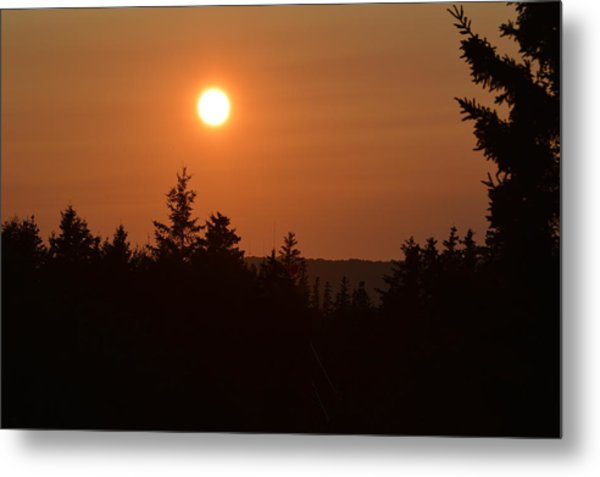 Sunset At Owl's Head Metal Print