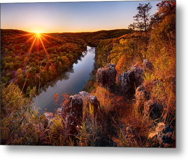 Sunset At Paint-rock Bluff Metal Print
