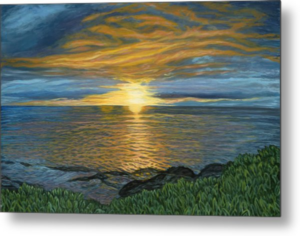 Sunset At Paradise Cove Metal Print