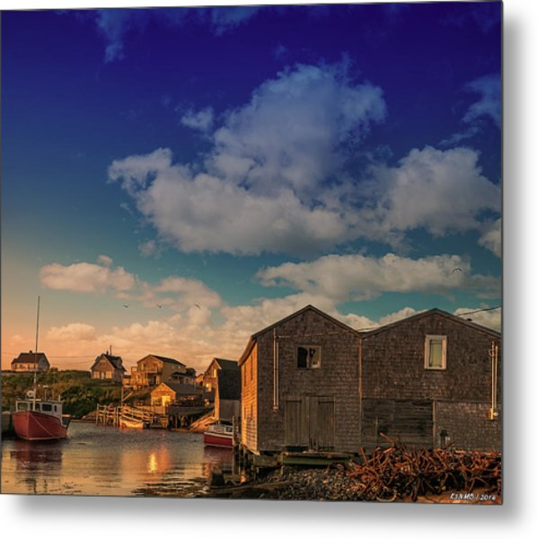 Sunset At Peggy's Cove 05 Metal Print