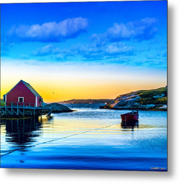 Sunset At Peggy's Cove  Metal Print