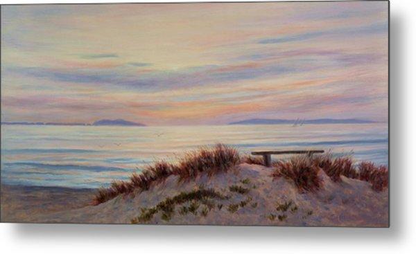 Sunset At Pierpont Beach Metal Print by Tina Obrien