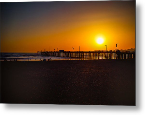Sunset At Pismo Metal Print