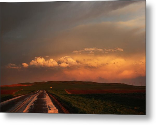 Sunset At Rockglen Metal Print
