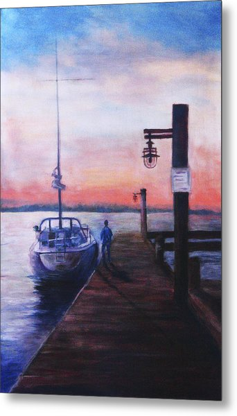 Sunset At Rocky Point Metal Print