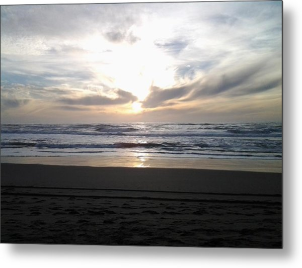 Sunset At San Gregorio Metal Print