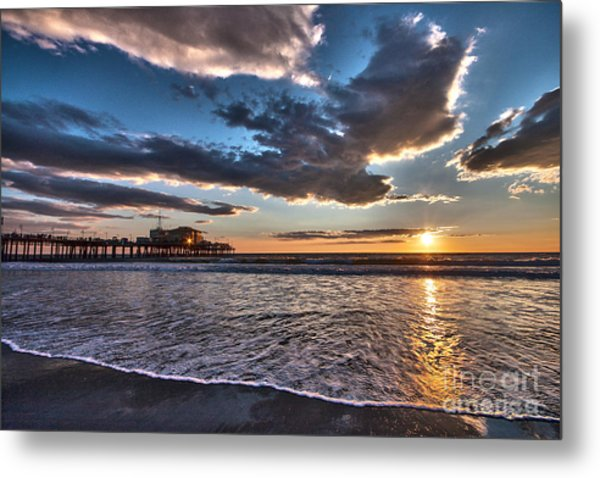Sunset At Santa Monica. Metal Print