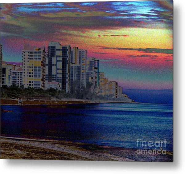 Sunset At Seagate Beach  Metal Print by Doris Wood