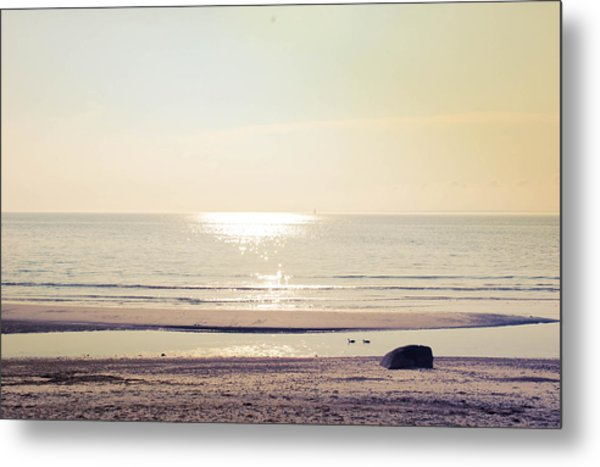 Sunset At Silver Metal Print