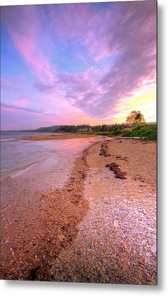 sunset at Stanley Beach. Metal Print