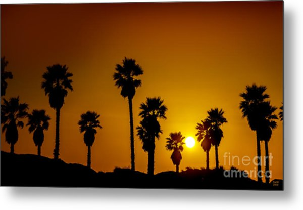 Sunset At The Beach Large Canvas Art, Canvas Print, Large Art, Large Wall Decor, Home Decor Metal Print