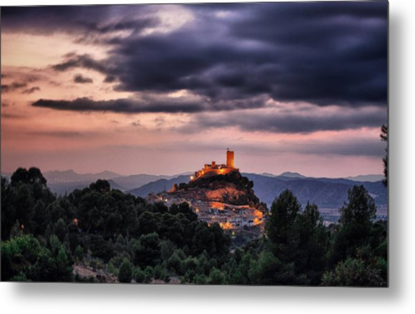 Sunset At The Castle Metal Print