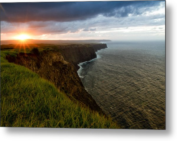 Sunset At The Cliffs Metal Print
