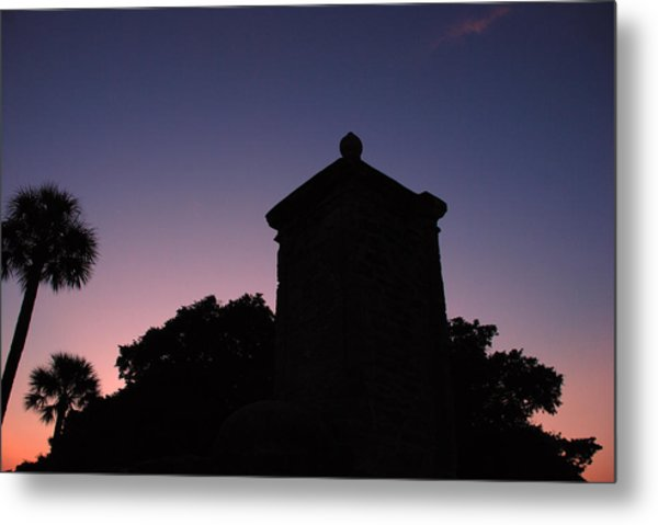 Sunset At The Gate Metal Print