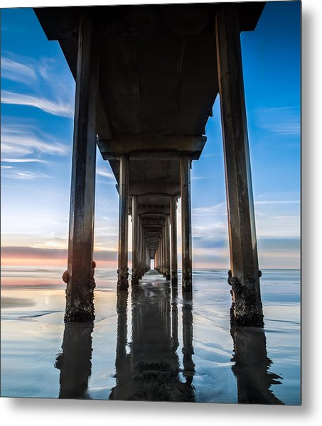 Sunset At The Iconic Scripps Pier Metal Print