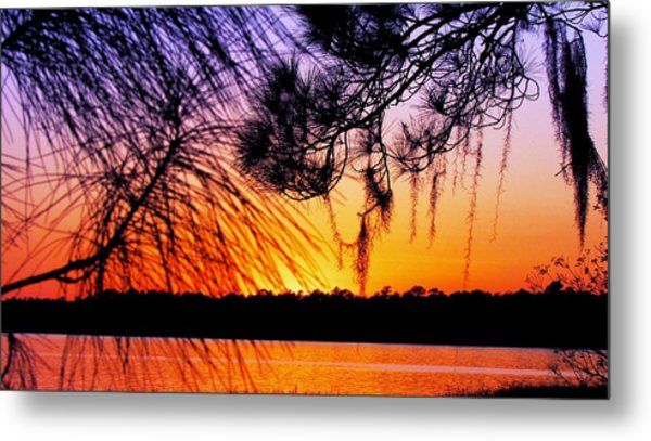 Sunset At The Lake 2 Metal Print by Will Boutin Photos