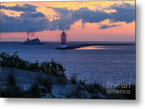 Sunset At The Point Metal Print