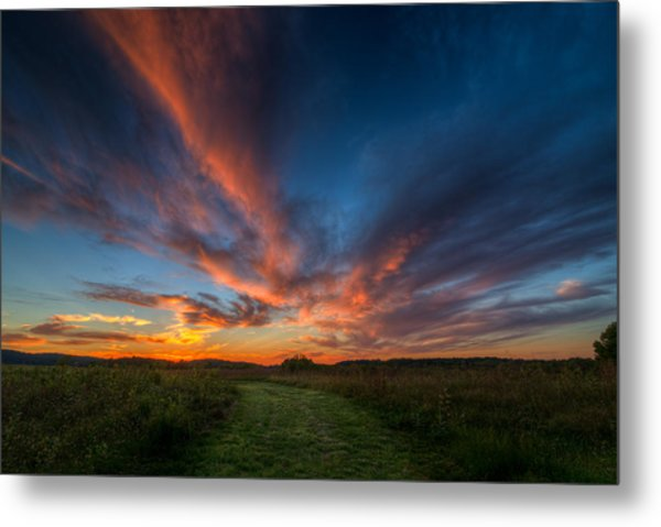 Sunset At Valley Forge Metal Print