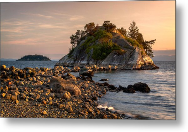 Sunset At Whyte Islet Metal Print