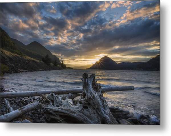 Sunset At Wind Mountain Metal Print