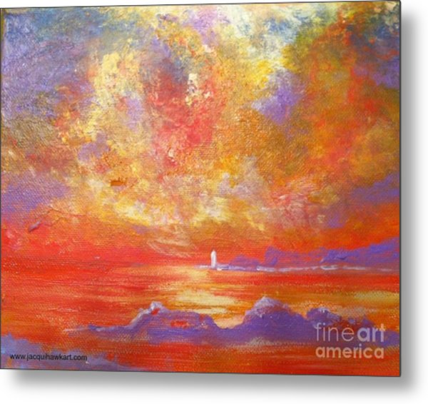 Sunset At Wingershaek Beach Metal Print