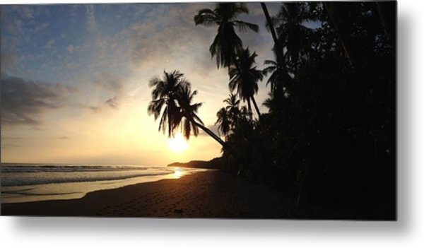Sunset Beach Metal Print by Tropigallery -