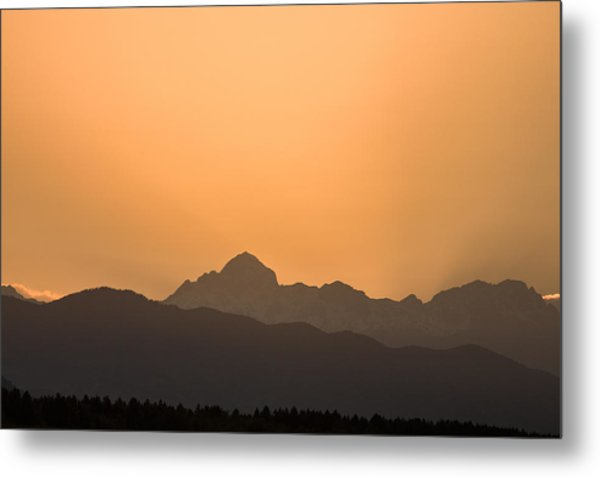 Sunset Behind The Julian Alps Metal Print
