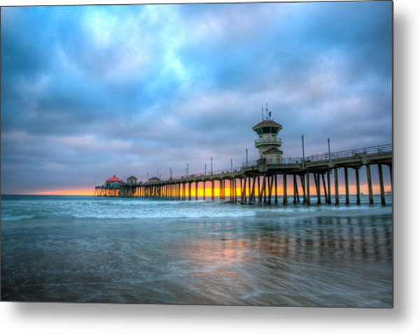 Sunset Beneath The Pier Metal Print