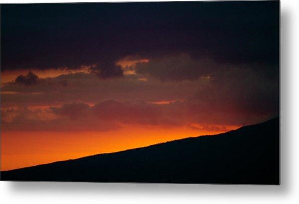 Sunset Beyond The Waianae Mountain Range Metal Print