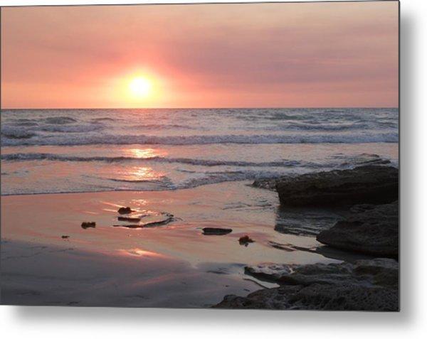 Sunset Cable Beach Metal Print