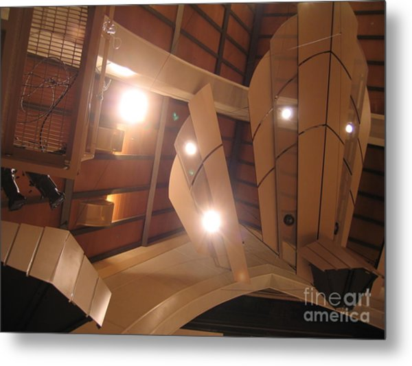 Sunset Center Ceiling Metal Print