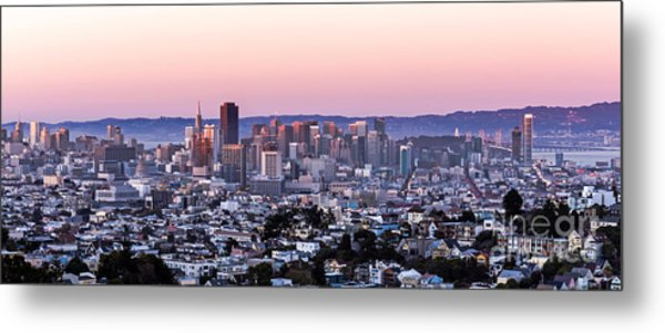 Metal Print featuring the photograph Sunset Cityscape by Kate Brown