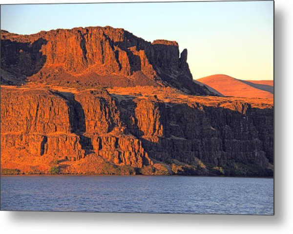 Sunset Cliffs At Horsethief  Metal Print