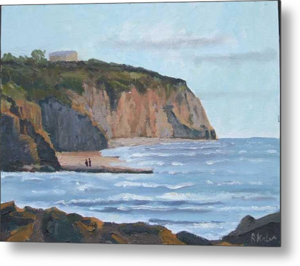 Sunset Cliffs Ca Metal Print by Raymond Kaler