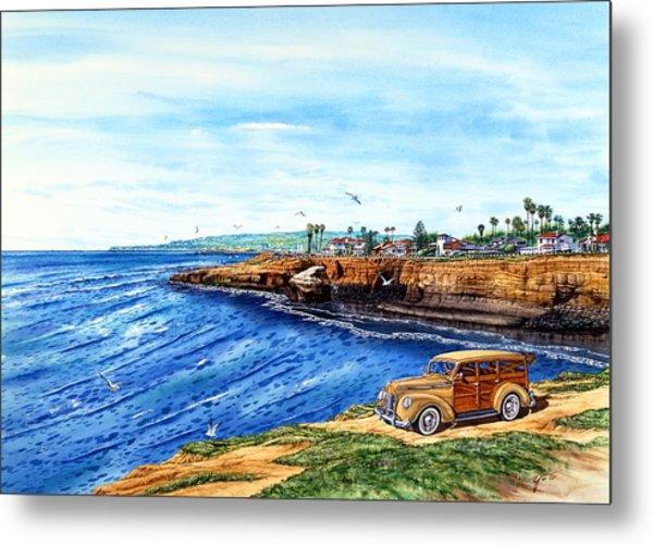 Sunset Cliffs Ocean Beach Metal Print