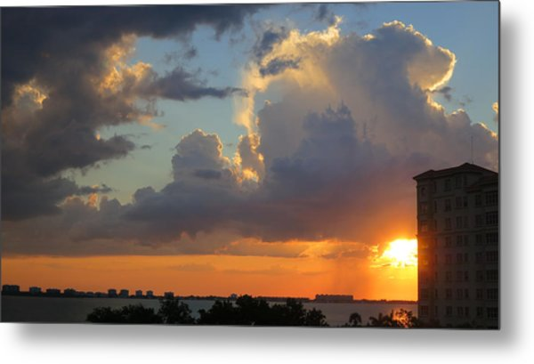 Sunset Shower Sarasota Metal Print