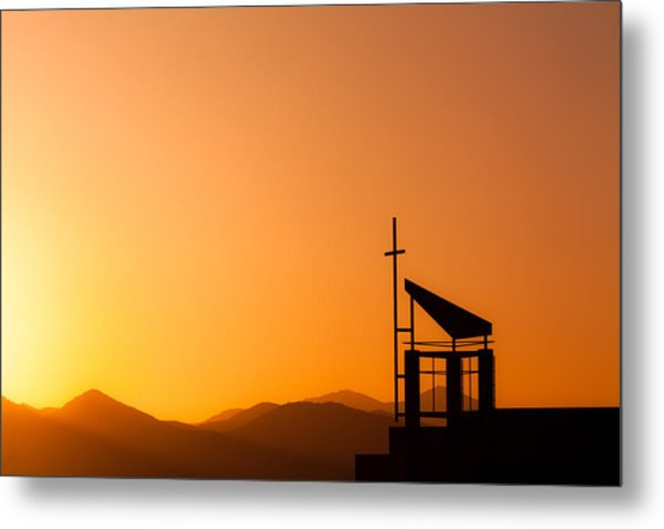 Sunset Cross Metal Print