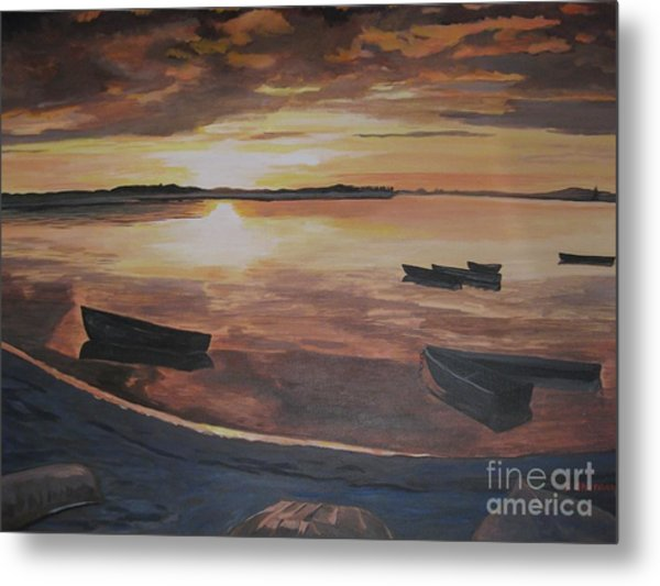 Sunset Evening Tide Metal Print