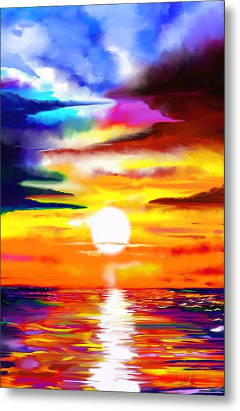 Sunset Explosion Metal Print