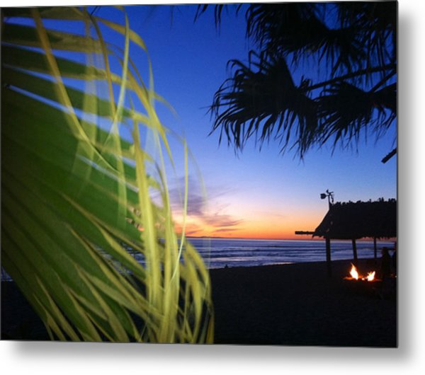 Sunset Fire At Sano Metal Print