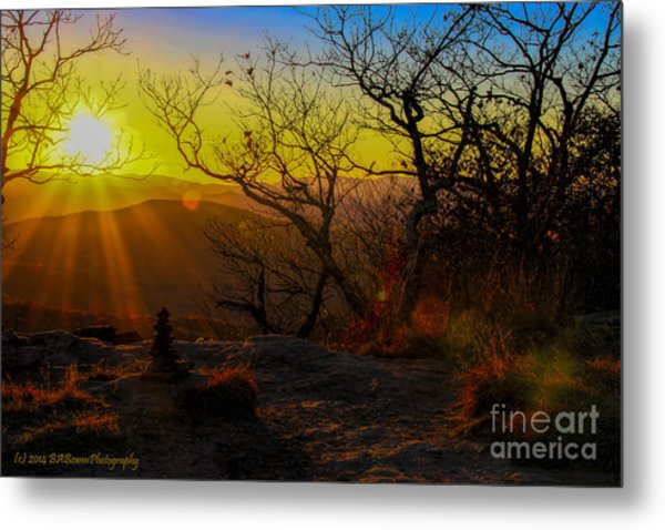 Sunset From Blood Mountain Metal Print